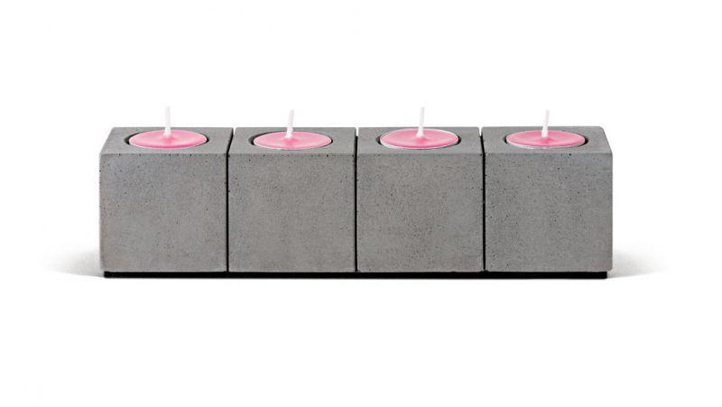 """Beton Kerzenleuchter """"BLOCKvier"""" für Teelichter"""