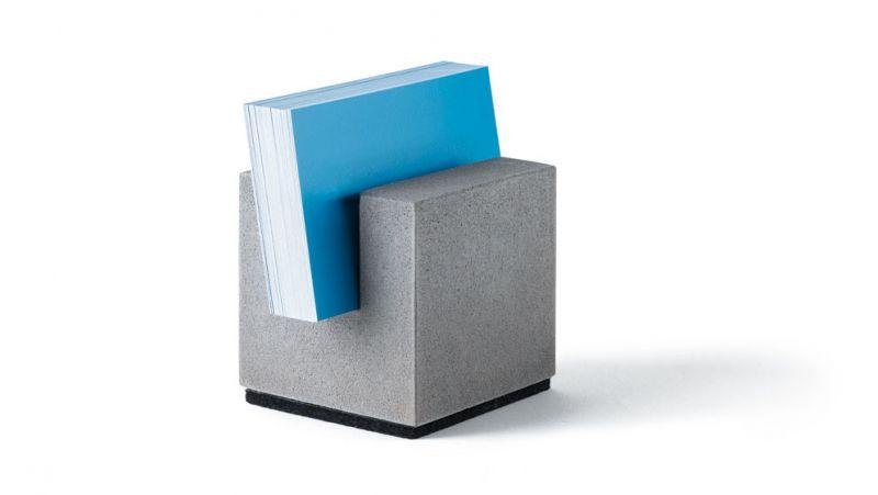 "Beton Kartenhalter ""Block"""